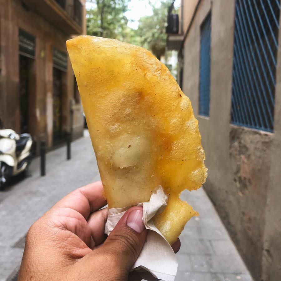 Empanada de restaurante venezolano en Barcelona