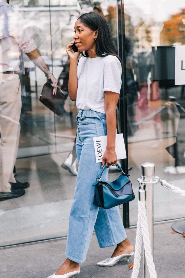 cómo combinar tus pantalones vaqueros anchos en 2020