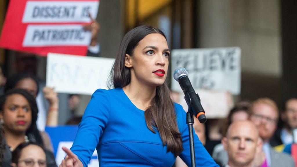 Alexandra Ocasio en el Congreso de Estados Unidos