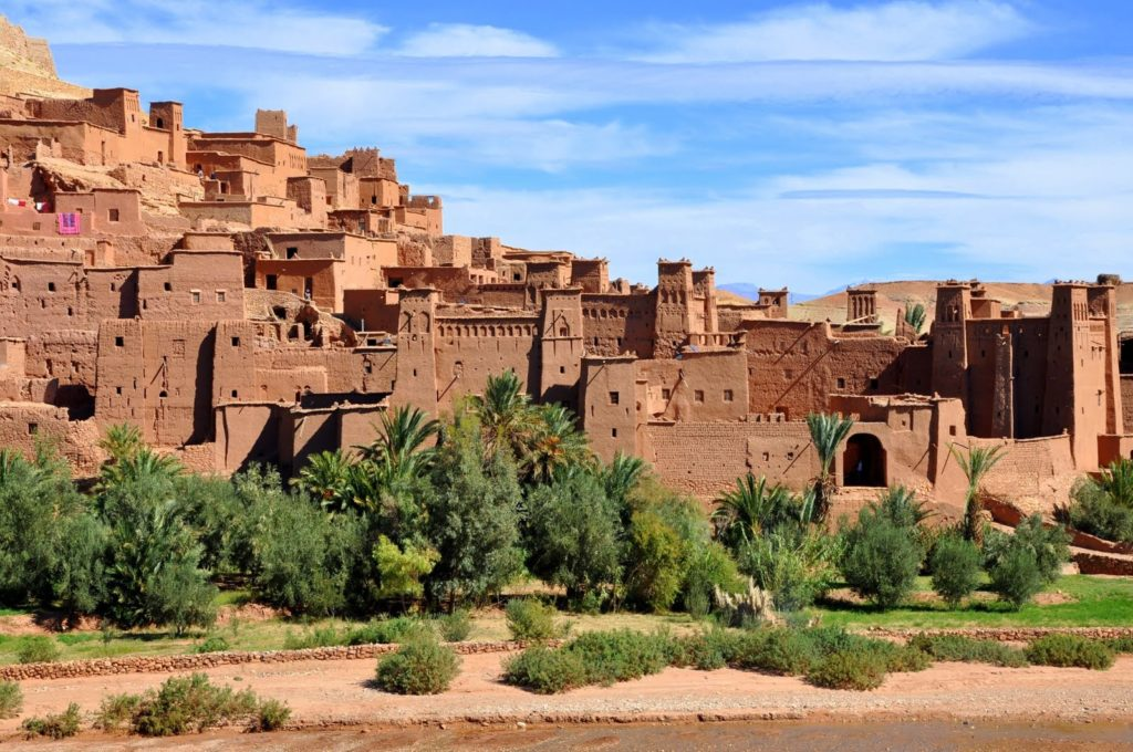 Castillos en Marruecos de color coral