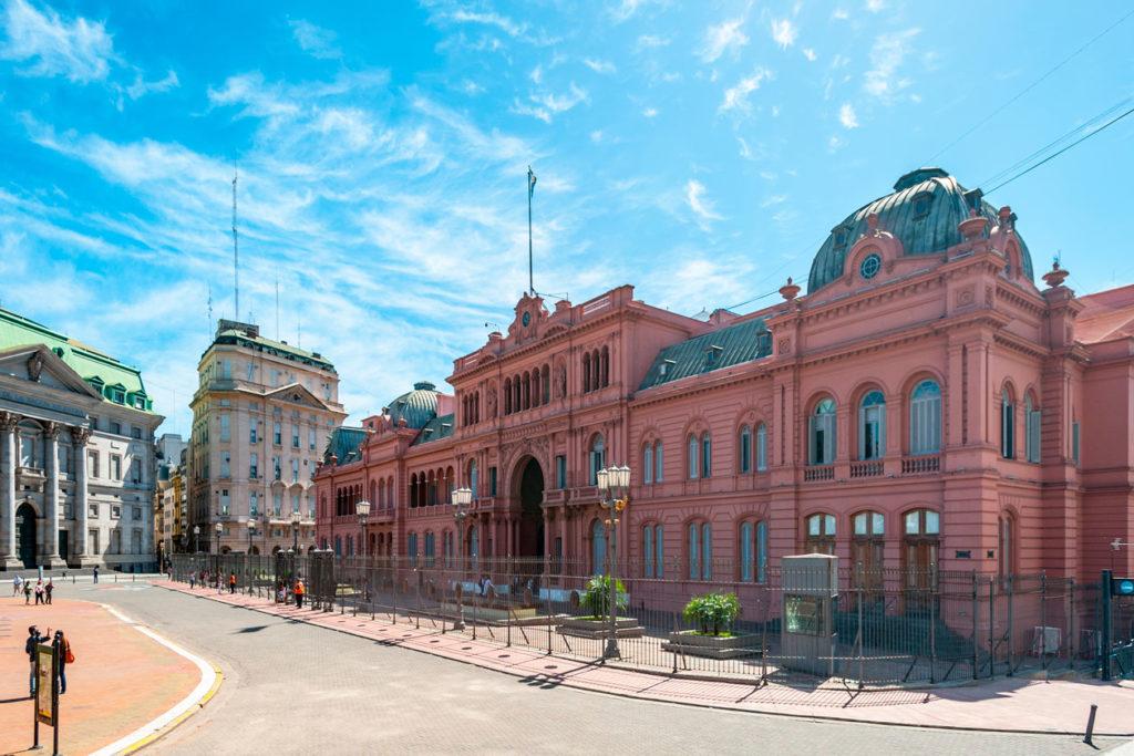 Casa Rosada de Argentina es coral