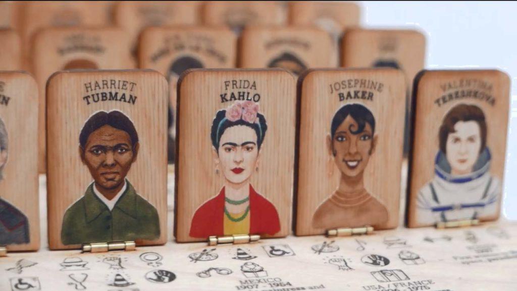 Frida Kahlo en el juego de mesa Who's she?