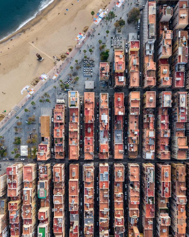 La Barceloneta desde arriba
