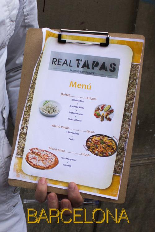 Postales de la comida en Barcelona