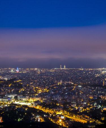 Vista desde la Cena con las Estrellas en Barcelona