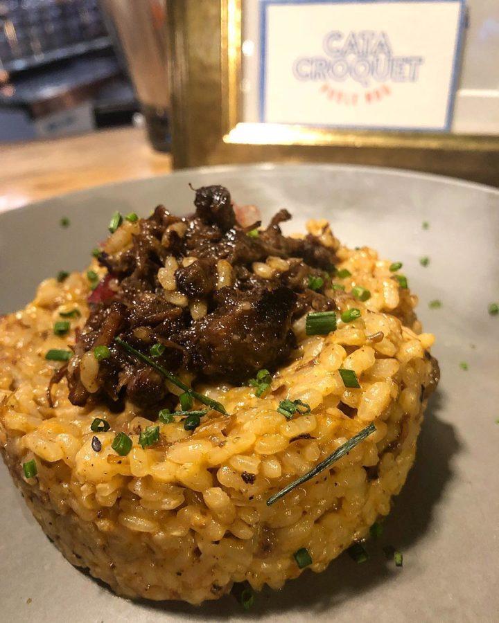 Arroz ibérico de bellota servido en un restaurante de Barcelona publicado en Instagram