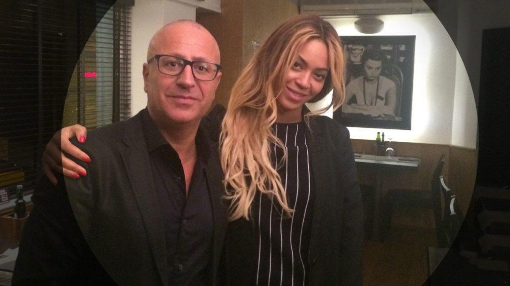 Beyonce en el restaurante Gusto de Barcelona